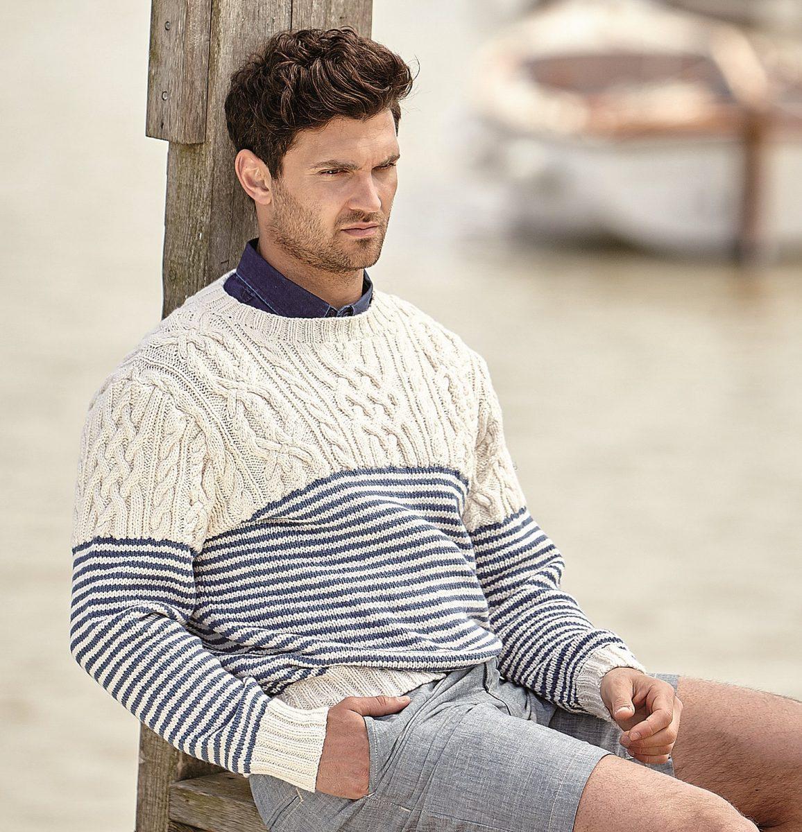 Как связать мужской свитер спицами: идеи дизайна, инструкция по вязанию своими руками, шаблоны для начинающих